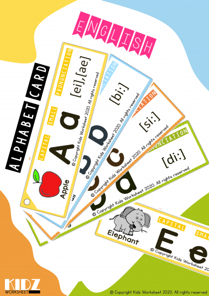 Alphabet Phonic Cards by Kidzworkshset