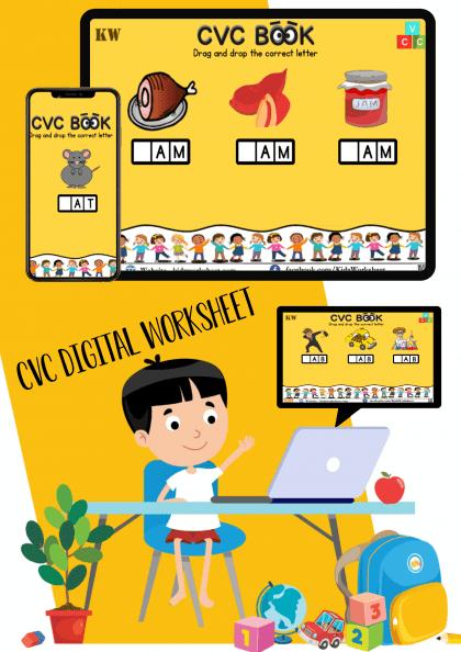 Digital CVC Words Worksheet (Google Slides)