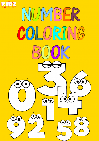 Number Coloring Book (1 to 10)