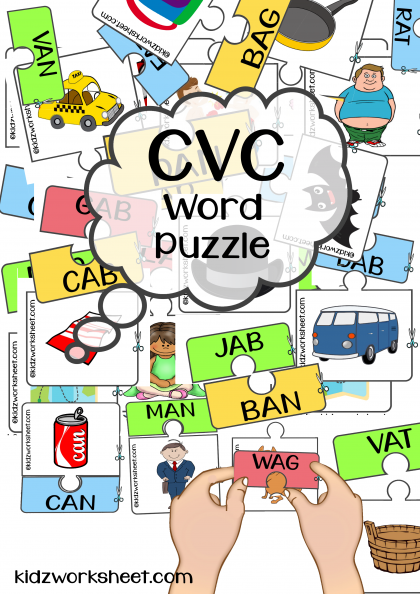 CVC Word Puzzle | Match CVC word with image