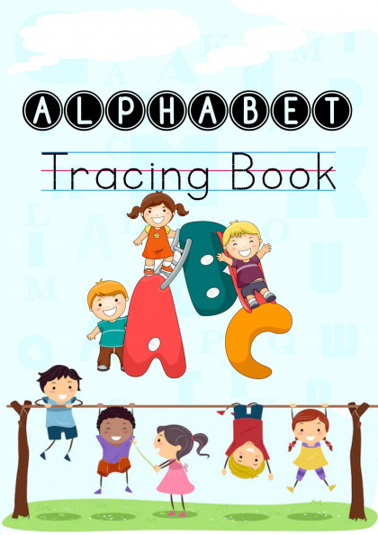 Alphabet Tracing Worksheet (Capital and Small Letters) For kindergarten and Pre-schoolers