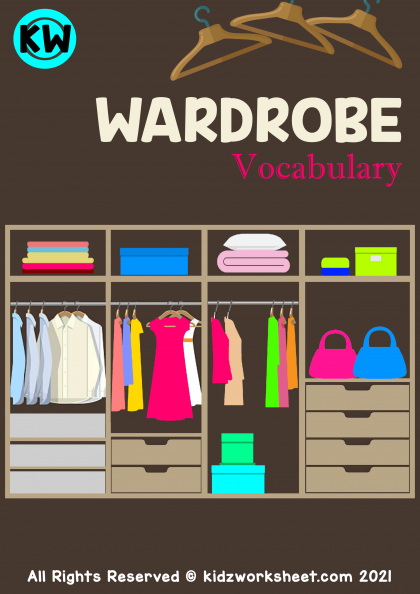 Wardrobe Vocabulary (Clothes Vocabulary) Worksheet
