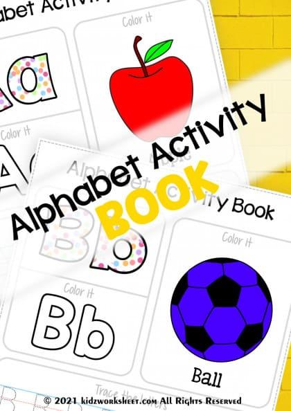 Alphabet Activity Book | preschoolers to grade 1