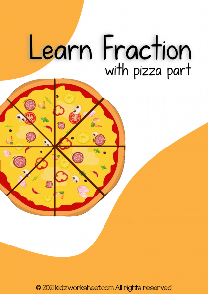 Learn fraction with pizza