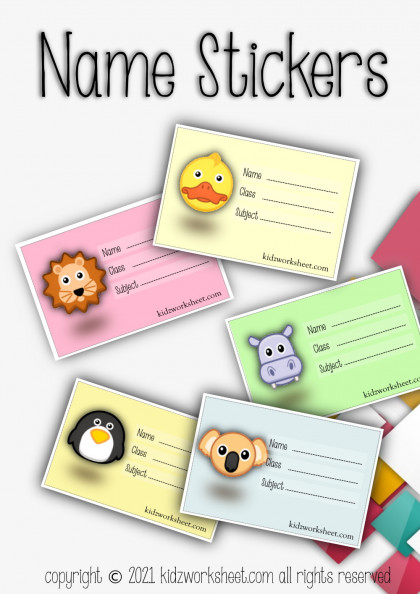 Name stickers for your toddlers
