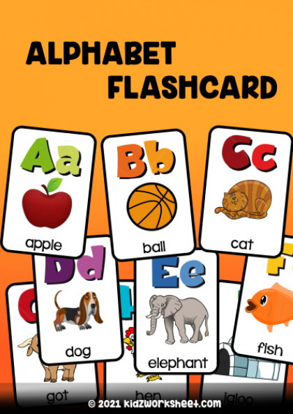 Alphabet flash card - Learn to Recognize English Alphabets